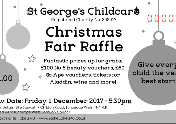St George's Christmas Raffle ticket