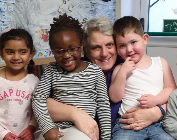 Teresa and children